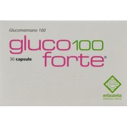 ERBOZETA GLUCO100 FORTE INTEGRATORE ALIMENTARE 30 CAPSULE 27g