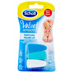 SCHOLL VELVET SMOOTH KIT ELETTRONICO NAIL CARE HEADS X2