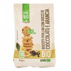 Biscotti frollini bio - Cioccolato e Arancia