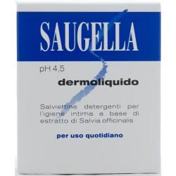 SAUGELLA SAUGELLA DERMOLIQUIDO SALVIETTINE DETERGENTI PER L'IGIENE INTIMA ALL'ESTRATTO DI SALVIA PH 4,4