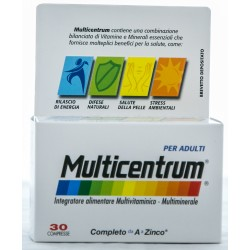 PFIZER MULTICENTRUM PER ADULTI INTEGRATORE ALIMENTARE MULTIVITAMINICO E MULTIMINERALE 30 COMPRESSE 37g
