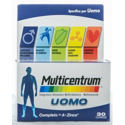 PFIZER MULTICENTRUM UOMO INTEGRATORE ALIMENTARE MULTIVITAMINICO E MULTIMINERALE 30 COMPRESSE 40g