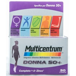 PFIZER MULTICENTRUM DONNA 50+ INTEGRATORE ALIMENTARE MULTIVITAMINICO E MULTIMINERALE 30 COMPRESSE 49g