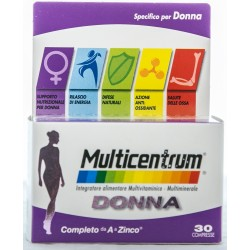 PFIZER MULTICENTRUM DONNA INTEGRATORE ALIMENTARE MULTIVITAMINICO E MULTIMINERALE 30 COMPRESSE 48g