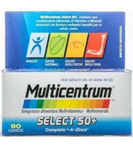 PFIZER MULTICENTRUM SELECT 50+ INTEGRATORE ALIMENTARE MULTIVITAMINICO E MULTIMINERALE C 90 COMPRESSE 116g