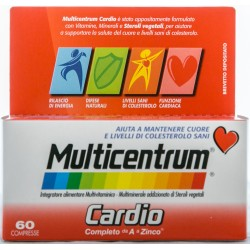 PFIZER MULTICENTRUM CARDIO INTEGRATORE ALIMENTARE MULTIVITAMINICO E MULTIMINERALE 60 COMPRESSE 82g