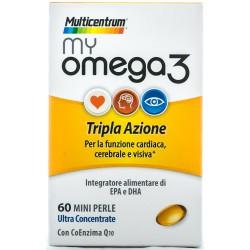 PFIZER MULTICENTRUM MY OMEGA 3 INTEGRATORE ALIMENTARE DI EPA E DHA 60 COMPRESSE 35g