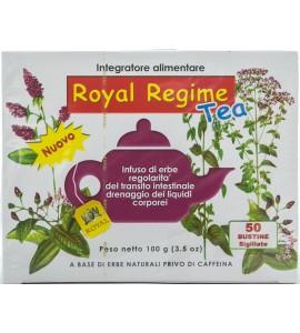 ROYAL ROYAL REGIME TEA INTEGRATORE ALIMENTARE A BASE DI ERBE NATURALI PRIVO DI CAFFEINA 50 BUSTINE 100g