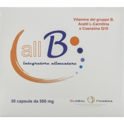 GLOBAL PHARMA ALL B INTEGRATORE ALIMENTARE 30 CAPSULE 15g