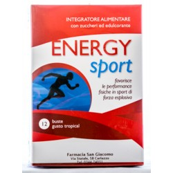 AQUAVIVA ENERGY SPORT INTEGRATORE ALIMENTARE FAVORISCE LE PERFORMANCE FISICHE 12 BUSTE GUSTO TROPICAL 420g