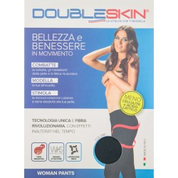 DOUBLE SKIN WOMEN PANTS L BLU