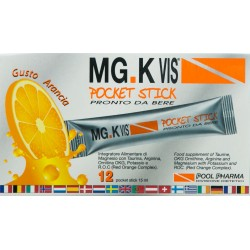 POOL PHARMA MG. K VIS POCKET STICK DA BERE MAGNESIO CON TAURINA E ARGININA 12 PZ 5,8ml
