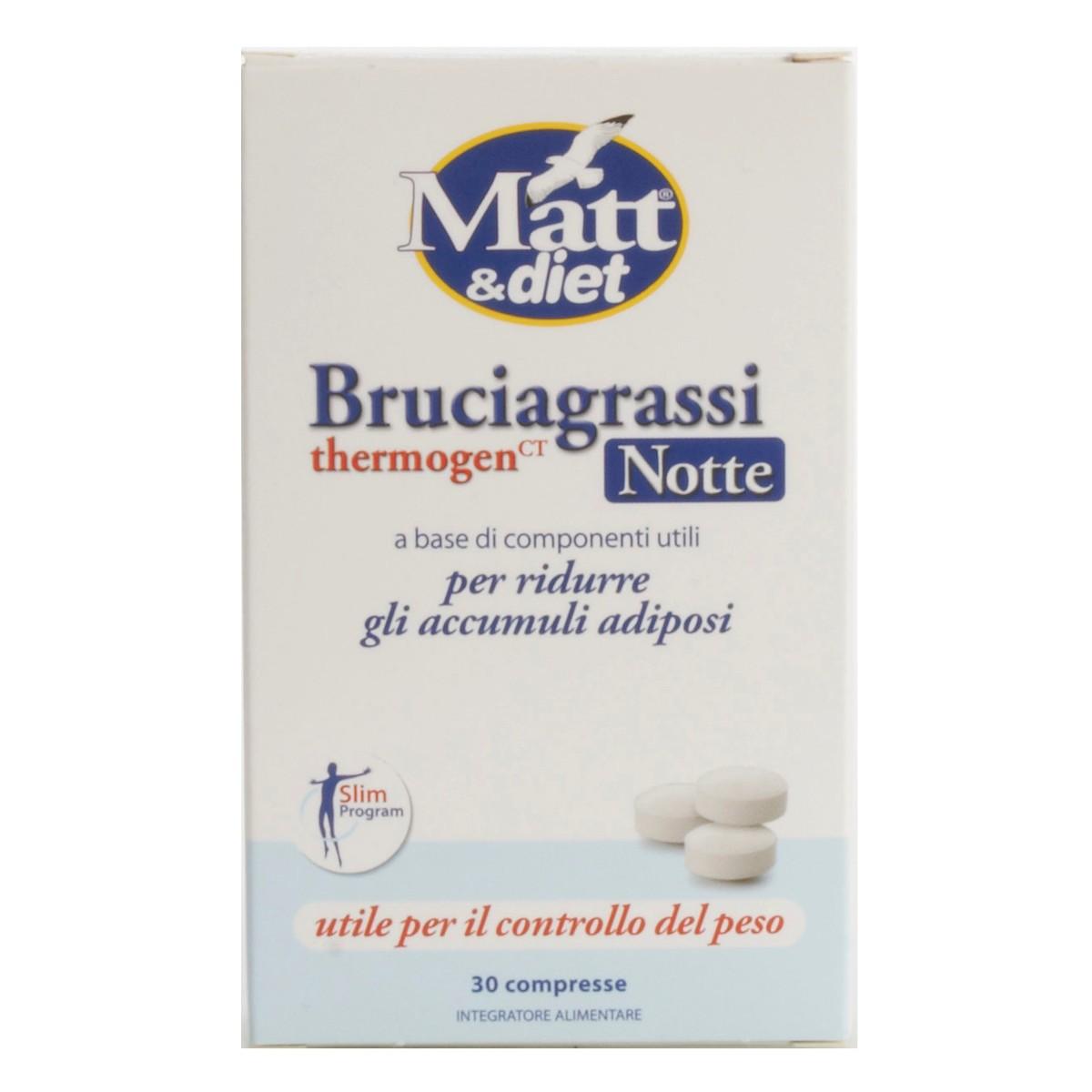 Integratore Bruciagrassi Notte Thermogen