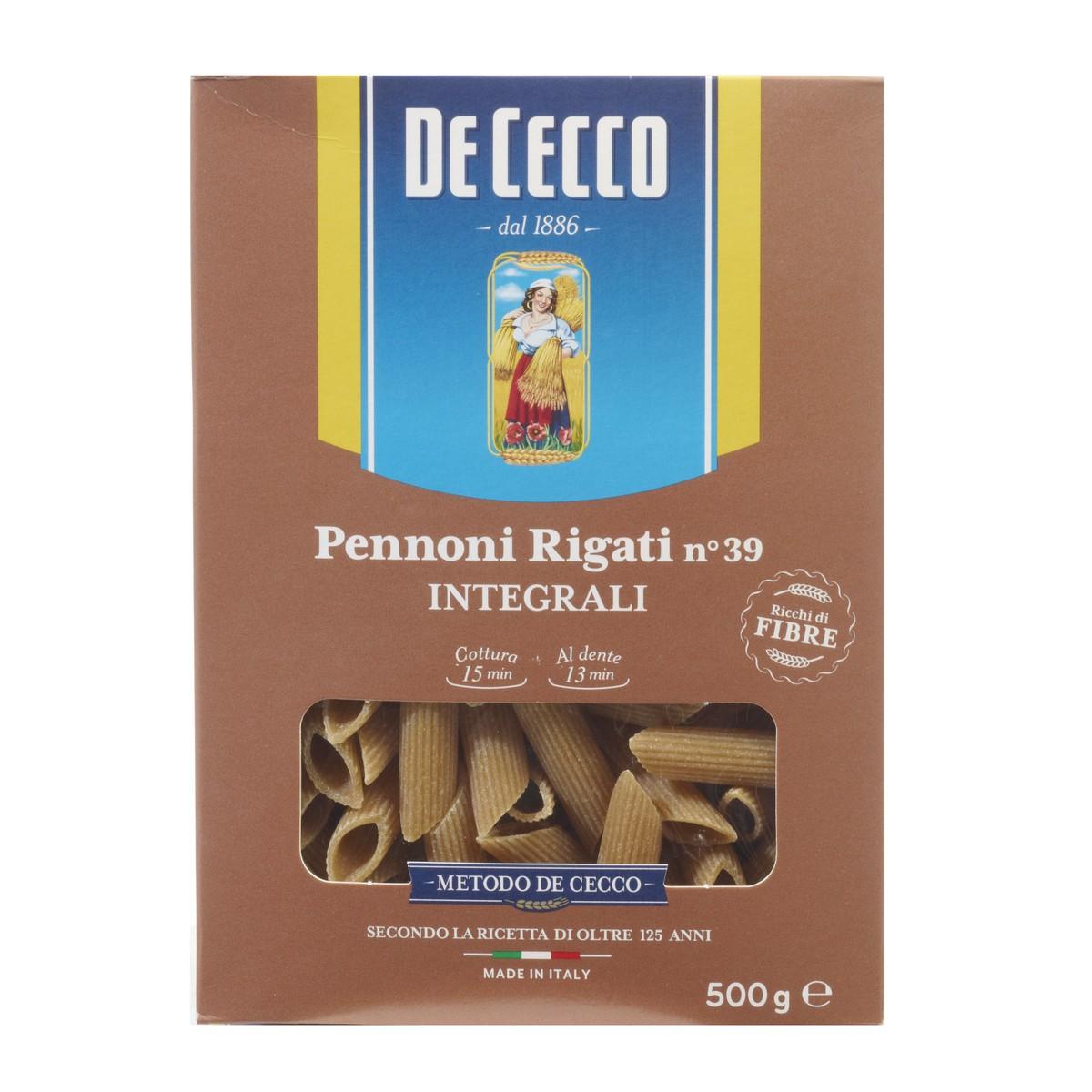 DE CECCO Pennoni rigati integrali n.39
