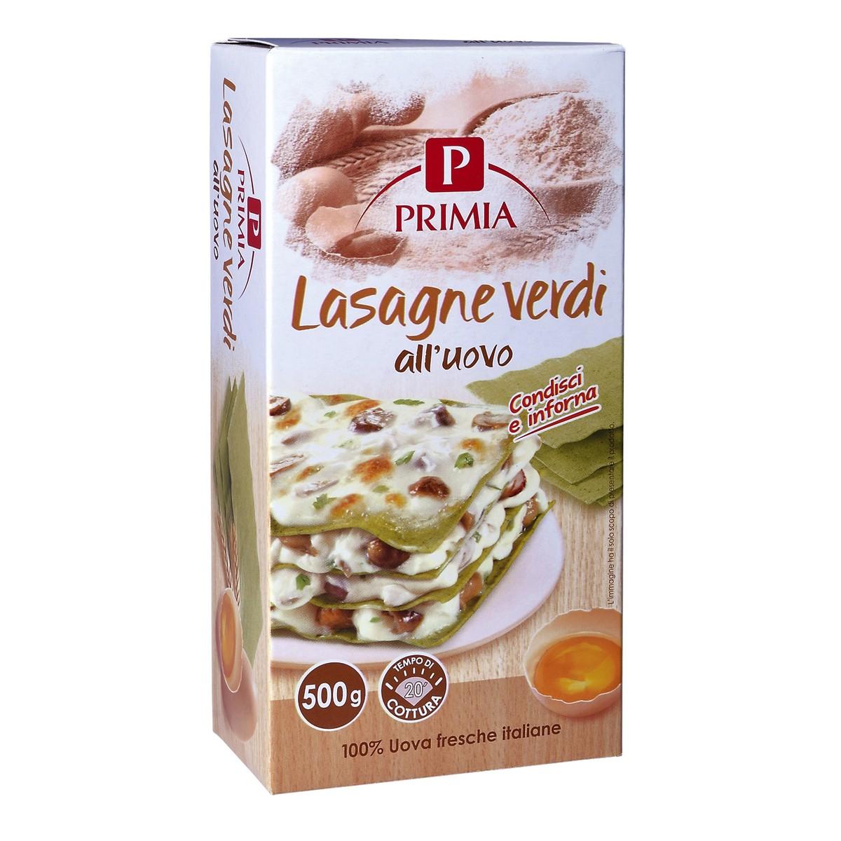 PRIMIA Lasagne verdi all'uovo