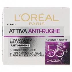 L'Oréal Paris Crema viso Attiva Anti-Rughe 55+