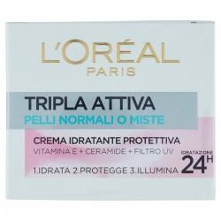 L'Oréal Paris Crema Idratante Protettiva Tripla Attiva