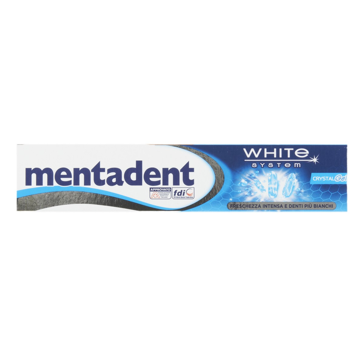 Mentadent Dentifricio White System Crystal Gel