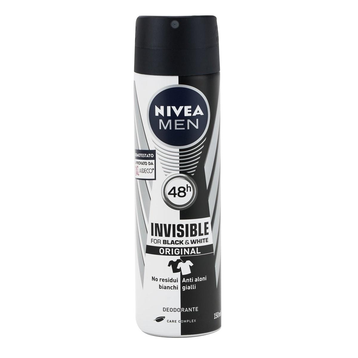 Nivea Men Deodorante spray Invisible Black&White