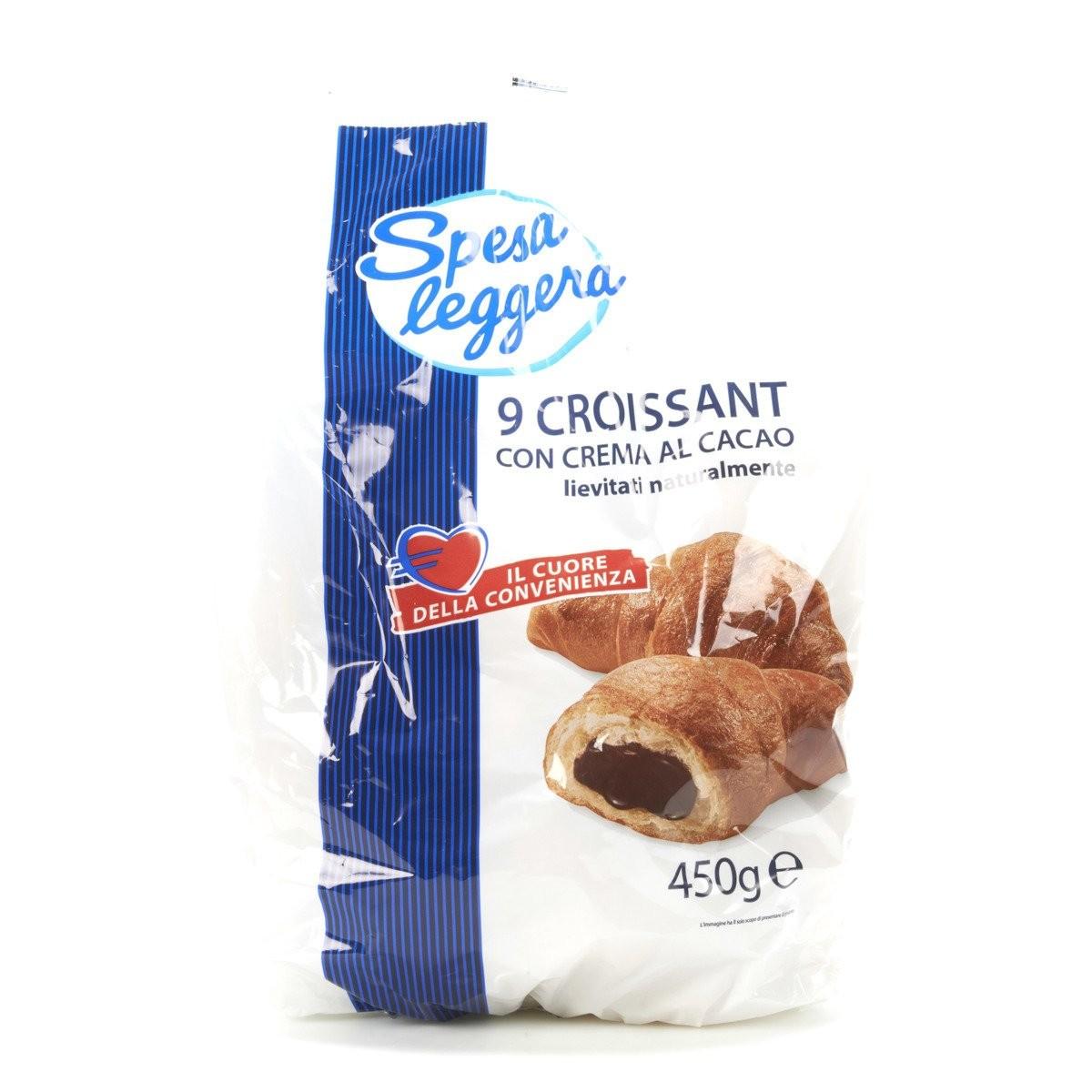 Croissant con crema al cacao
