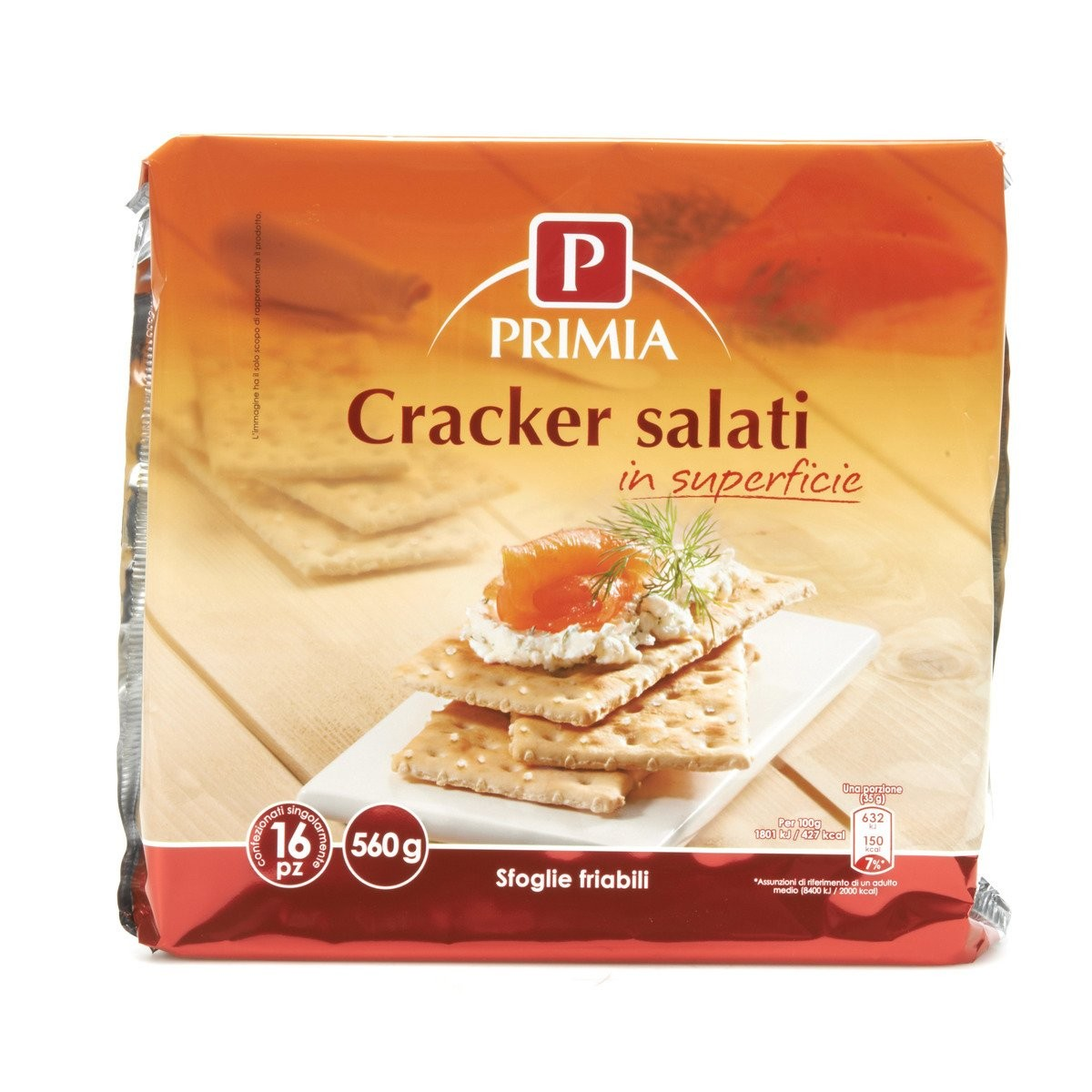 Cracker salati in superficie