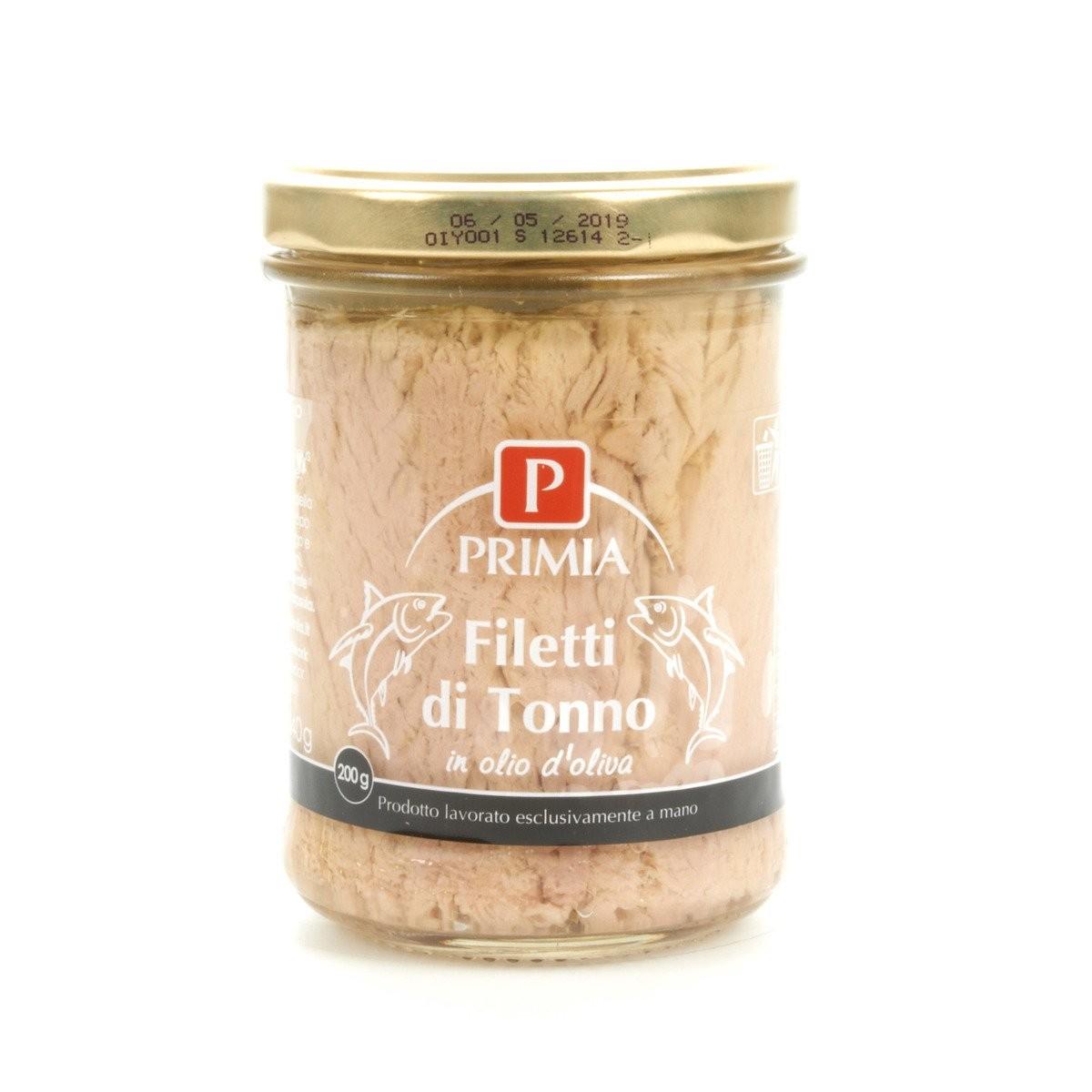 Filetti di tonno in olio d'oliva