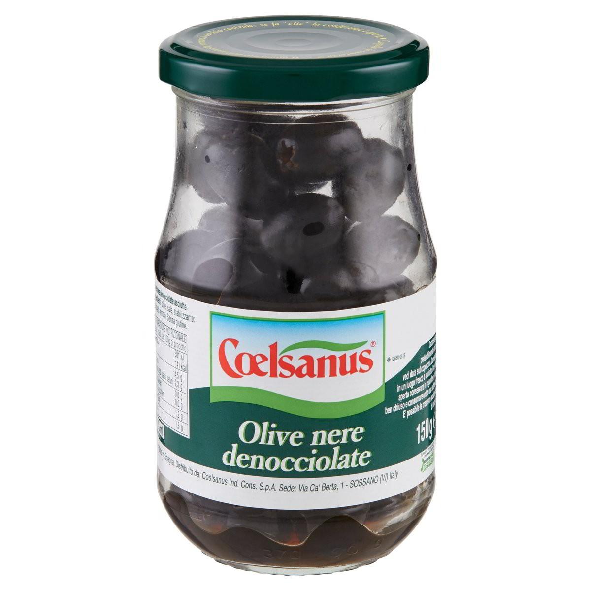 Coelsanus Olive nere denocciolate