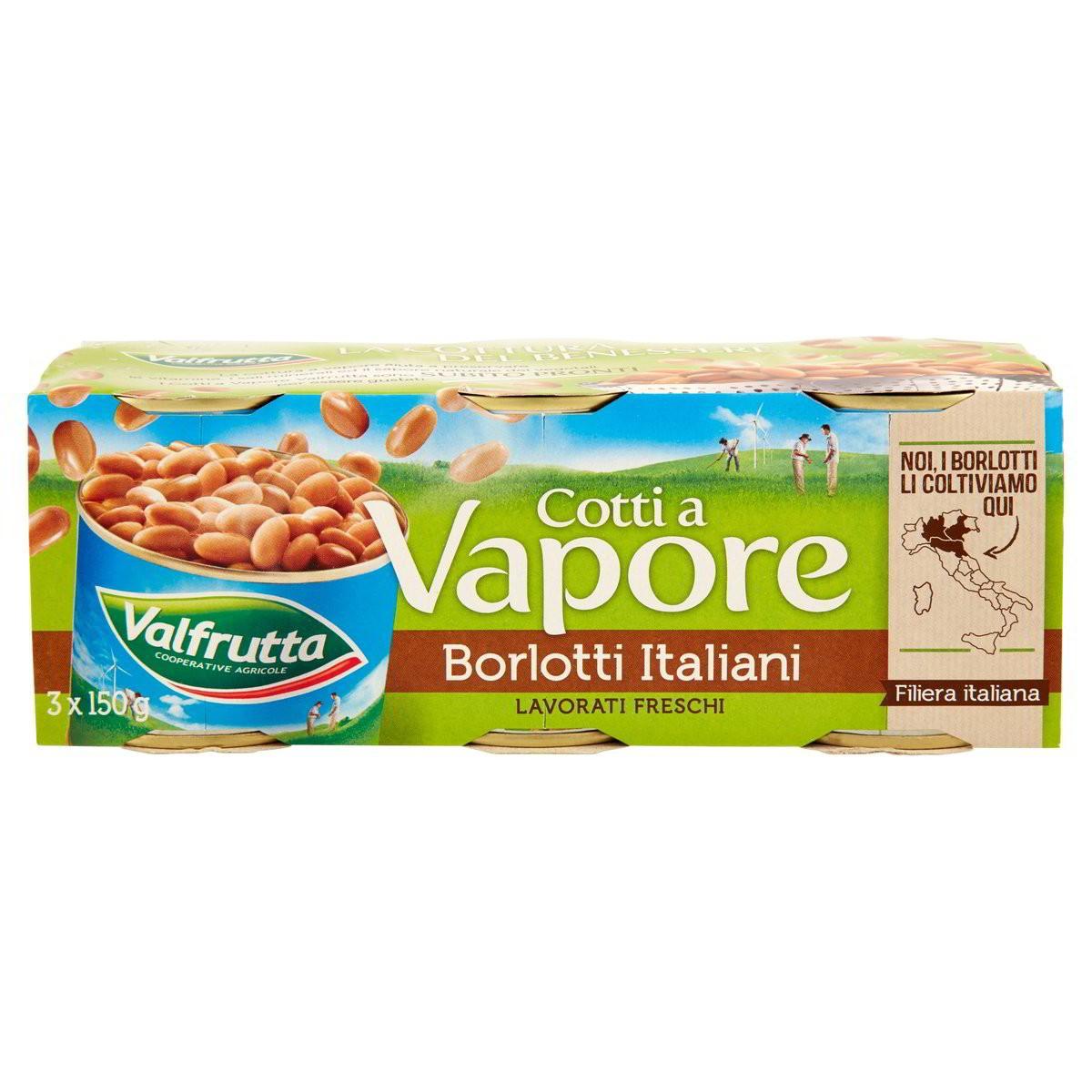 Valfrutta Fagioli borlotti cotti al vapore