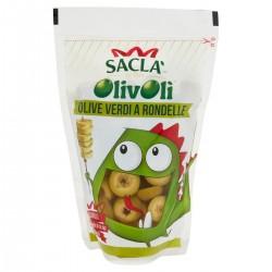 Saclà Olive verdi a rondelle in salamoia Olivolì