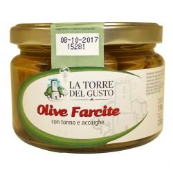 La torre del gusto Olive farcite con tonno e acciughe