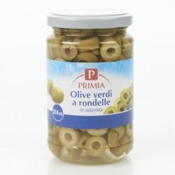 Primia Olive verdi a rondelle in salamoia