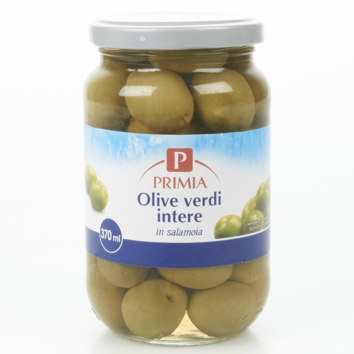 Primia Olive verdi intere in salamoia