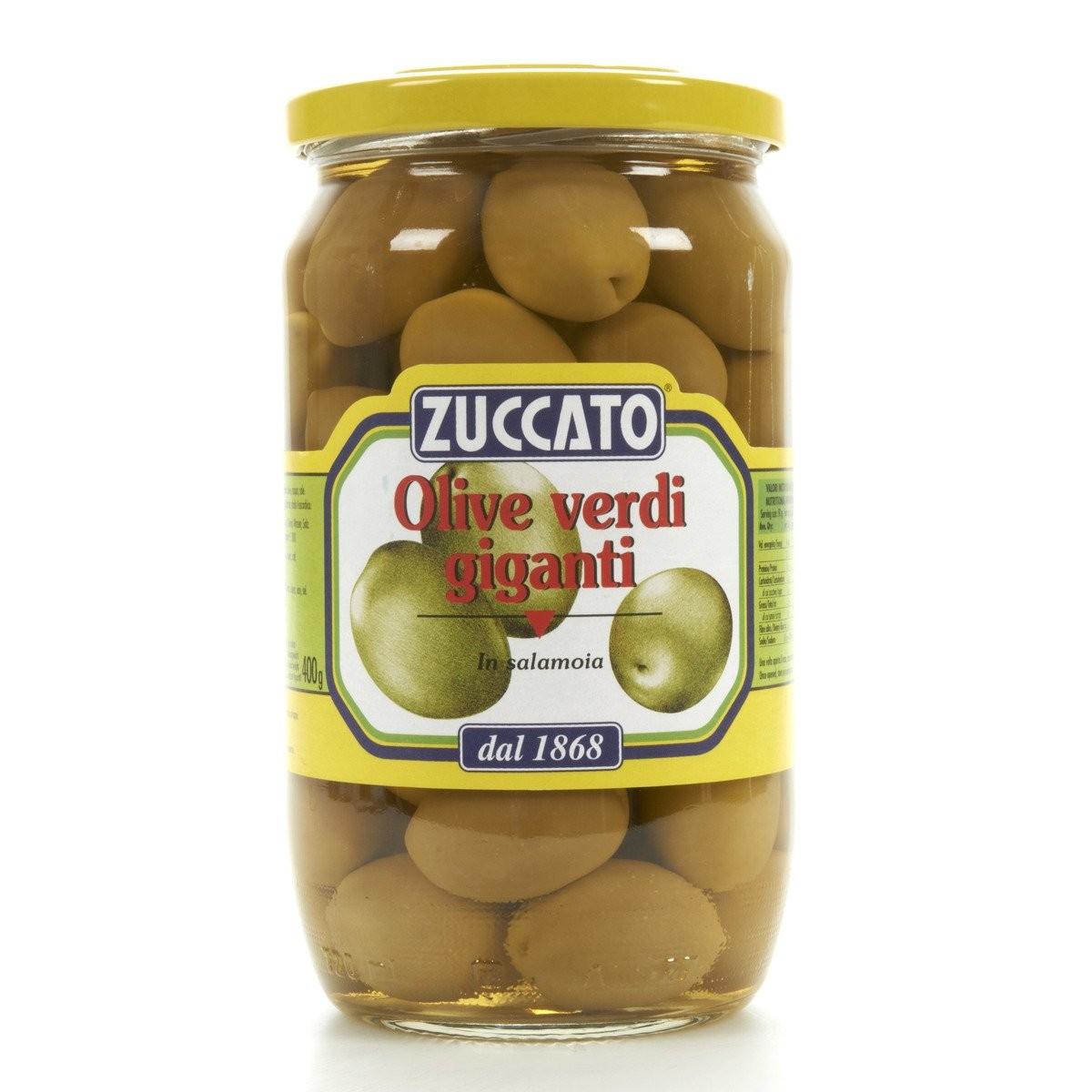 Zuccato Olive verdi giganti in salamoia