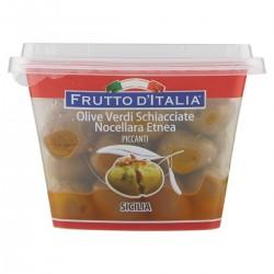 Madama Oliva Olive verdi schiacciate piccanti