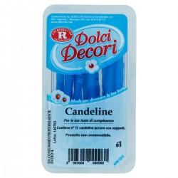 Rebecchi Candeline azzurre Dolci Decori