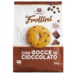 Frollini con gocce di cioccolato