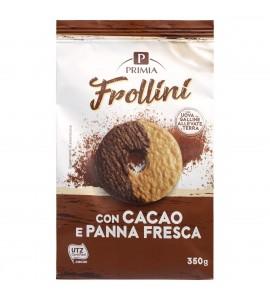 Frollini con panna e cacao