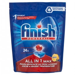 Finish Detersivo Powerball All in 1 Max Limone