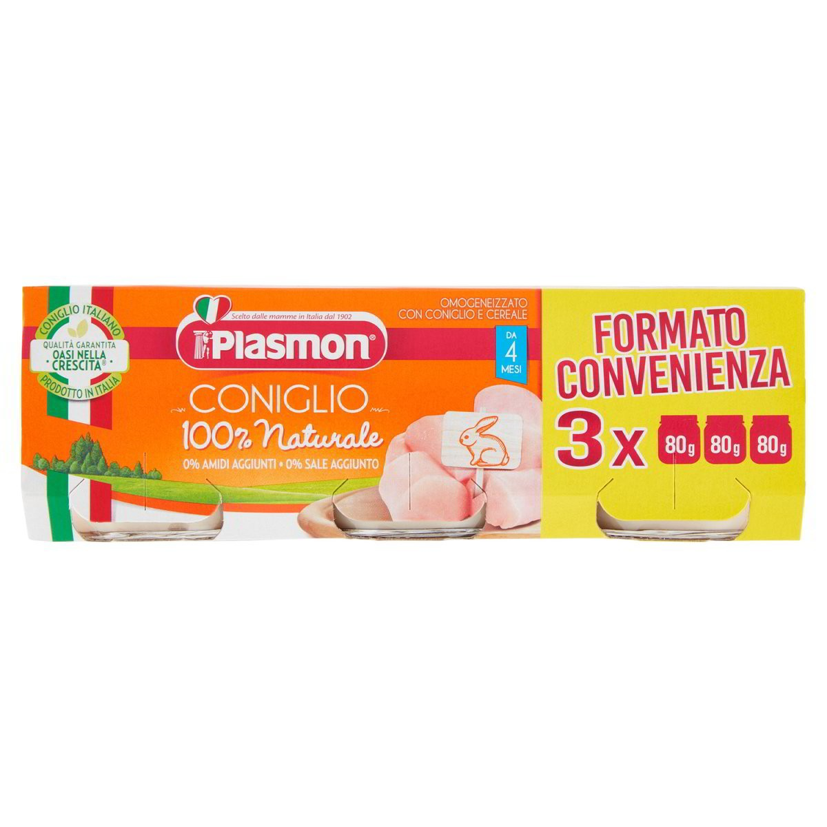 Plasmon Omogeneizzato Coniglio 3x