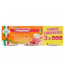 Plasmon Omogeneizzato Manzo E Pollo 3x